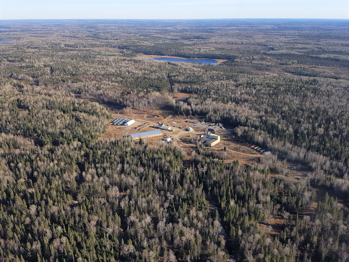 An aerial view of First Mining's Goldlund gold project. Credit: First Mining.
