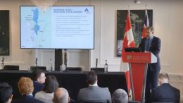 Ascot Resources president and chief executive officer Derek White presents at the Canadian Mining Symposium in London on April 25, 2018.