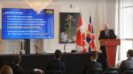 CanAlaska Uranium president, chief executive officer and director Peter Dasler presents at the Canadian Mining Symposium in London on April 24, 2018.