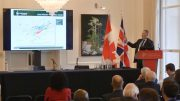 Strongbow Exploration president, chief executive officer and director Richard Williams presents at the Canadian Mining Symposium in London on April 24, 2018.