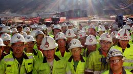 Workers at Tahoe Resources' Escobal silver mine in Guatemala. Credit: Tahoe Resources.