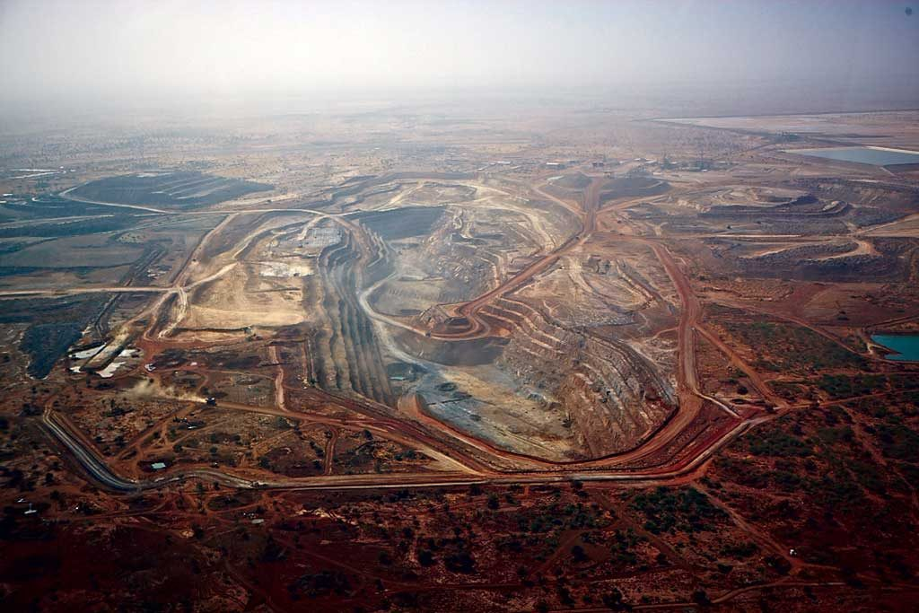 An aerial view of Iamgold's Essakane gold mine. Credit: Iamgold.