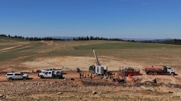 Drillers at Integra Resources' DeLamar historic gold-silver project in southern Idaho. Credit: Integra Resources.