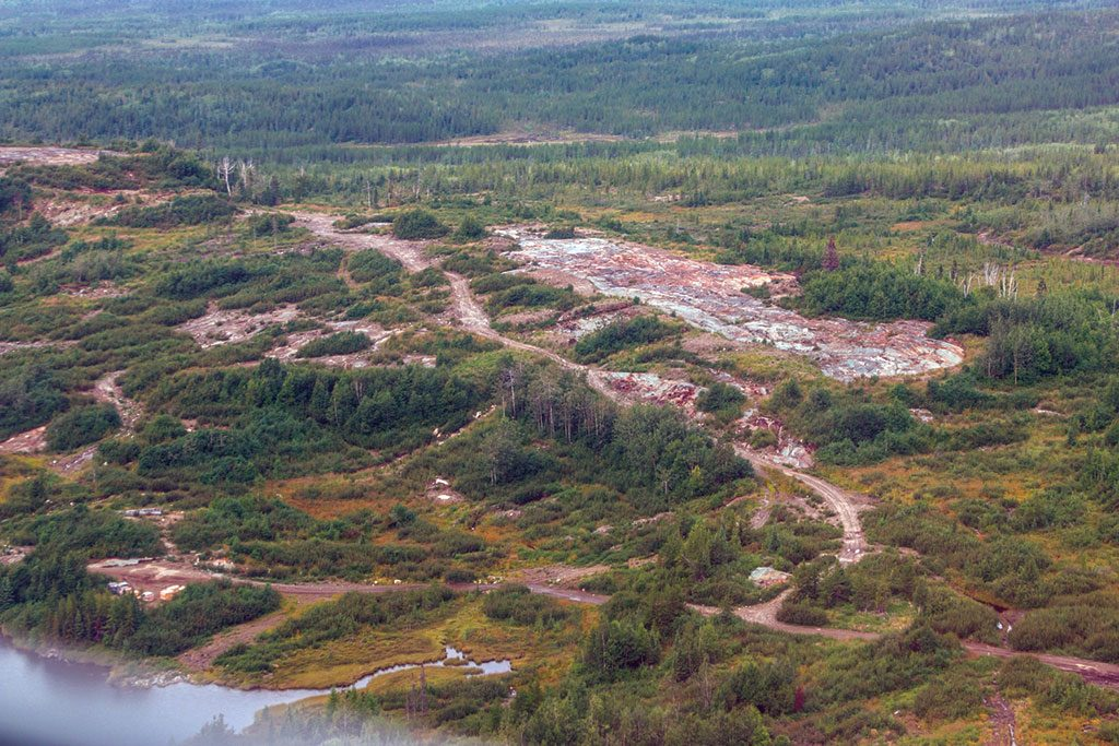 An outcrop within the footprint of the planned open pit at the Eau Claire gold deposit. Credit: Eastmain Resources.