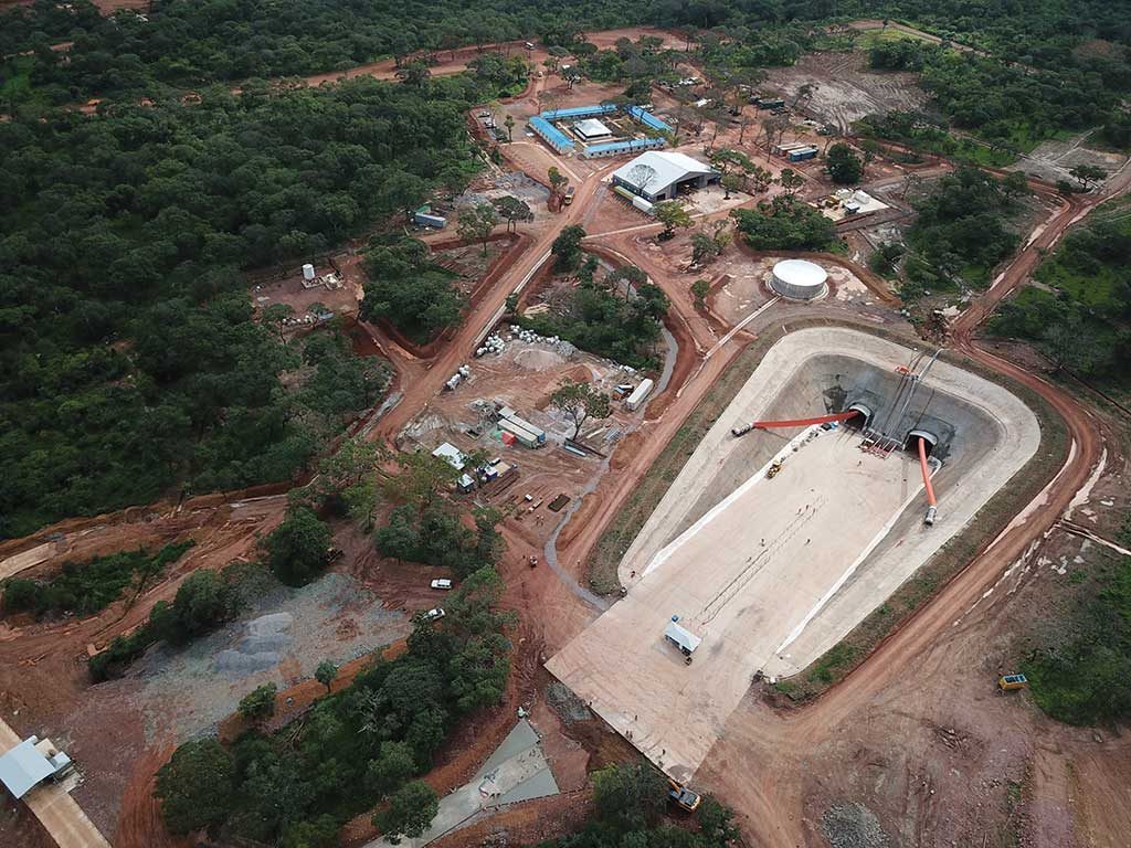 Portals for twin declines at Ivanhoe Mines and Zijin Mining's Kakula copper project in the Democratic Republic of the Congo. Credit: Ivanhoe Mines.