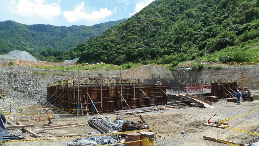 A mill building under construction at the Buritica gold project. Photo by David Perri