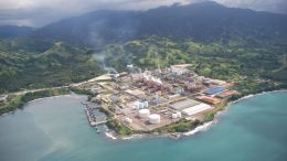 The Basamuk processing plant, part of Metallurgical Corp. of China's majority-owned Ramu nickel-nobalt mine in Papua New Guinea, where Cobalt27 holds a cobalt stream on the project. Credit: Highlands Pacific.