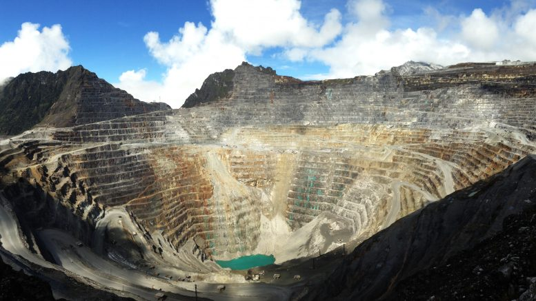 The Grasberg copper-gold mine in Indonesia. Credit: Freeport-McMoRan.