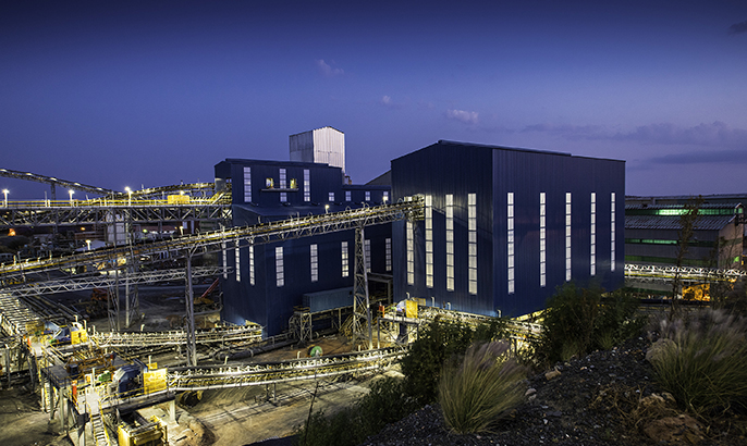 New processing plant at the Cullinan diamond mine in South Africa. Credit: Petra Diamonds.