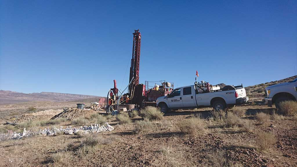 A drill site at Northern Empire Resources' flagship Sterling gold project in Nevada. Photo by Richard Quarisa.