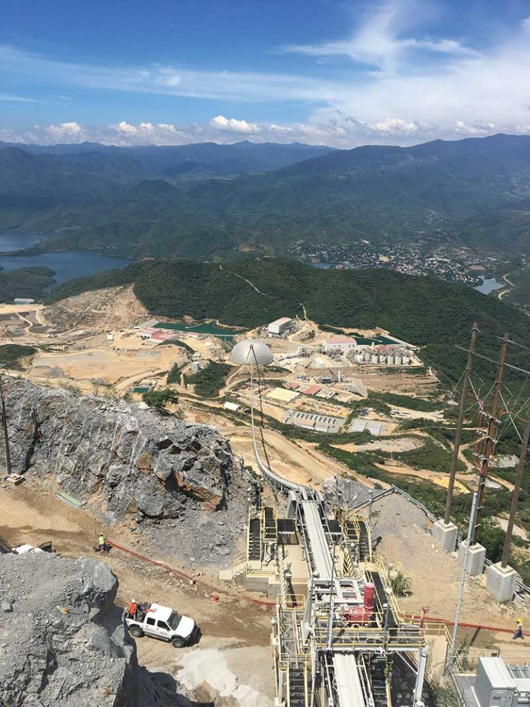 The SART plant (foreground) at Torex Gold Resources' El Limon-Guajes gold mine in Mexico. Credit: Torex Gold Resources.