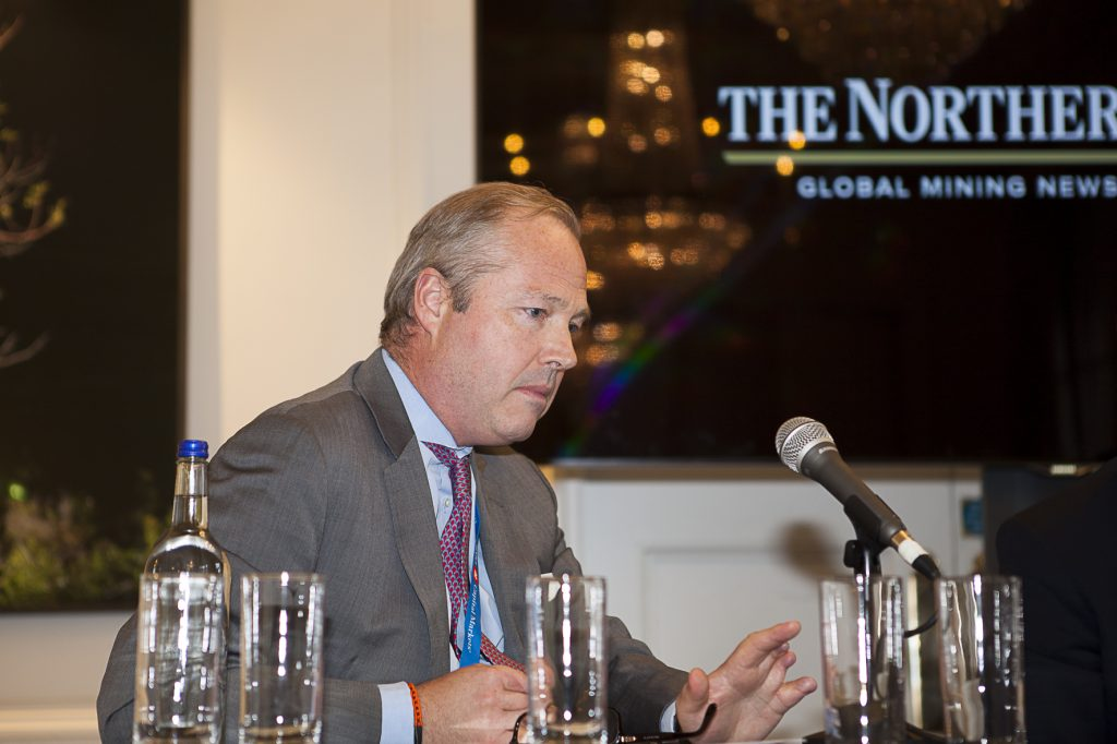 Jeffrey Couch, managing director and head of investment and corporate banking for Europe at BMO Capital Markets, at The Northern Miner's Canadian Mining Symposium at Canada House in London, U.K., in April 2018. Photo by Martina Lang.