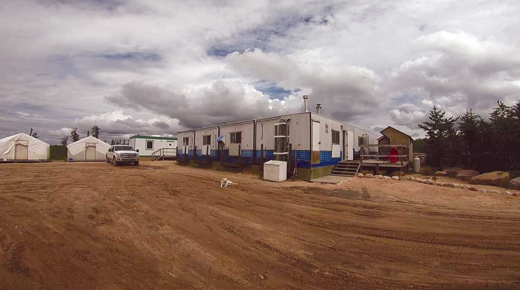 Fission Uranium's exploration camp in at the Patterson Lake South project. Photo by Richard Quarisa.