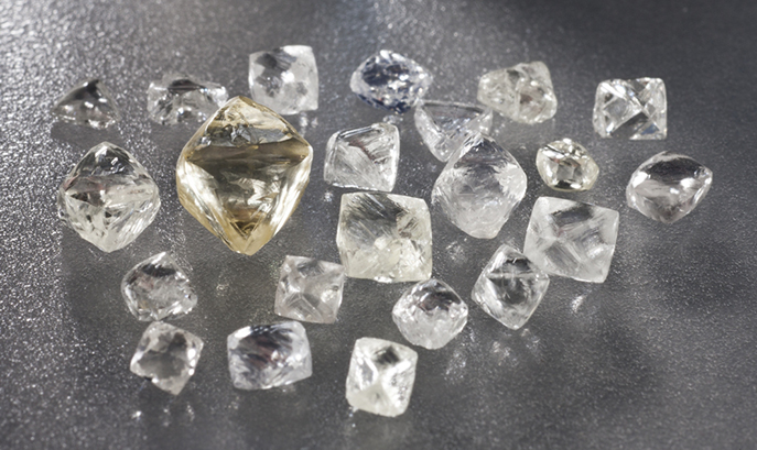 A sample of diamonds recovered at the Chidliak project in Canada. Credit: Peregrine Diamonds.