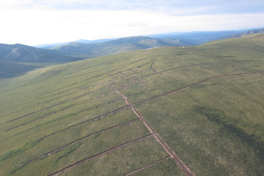 An aerial view of the Klaza gold project. Credit: Rockhaven Resources.