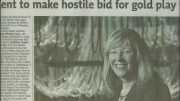 Newspaper clipping of Margaret Kent as head of Century Mining in the mid-2000s. Credit: Margaret Kent archives.