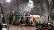 Drillers at Imperial Metals' Mount Polley copper-gold mine near Likely, British Columbia. Credit: Imperial Metals.