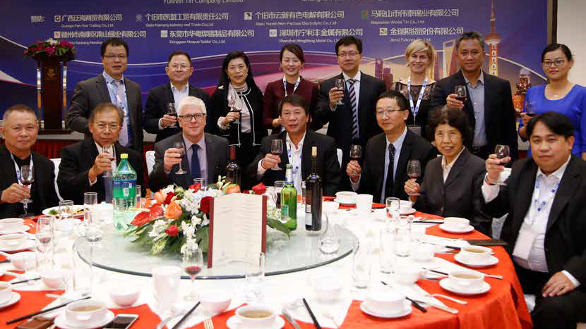 A dinner gathering of members of the International Tin Association. Credit: Credit: International Tin Association.