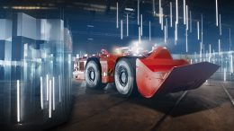 Sandvik's newest self-driving AutoMine loader being put through its paces in the Glass labyrinth. Credit: Sandvik.