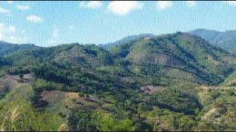 A panoramic view of the Guapinol joint-venture property in Guatemala.