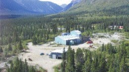 Idled mill complex at Tagish Lake's Skukum gold property in southern Yukon.
