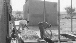 Work under way at the Taparko gold project in eastern Burkina Faso in 1998.