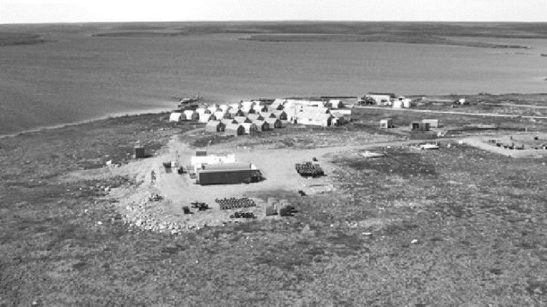 A recent aerial photo of De Beers' Gahcho Ku diamond exploration camp in the Northwest Territories, 275 km northeast of Yellowknife. The project centres on the Kennady Lake cluster of five diamond-bearing pipes.