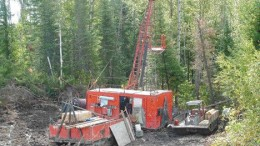 A drill tests First Nickel's Dundonald South property 45 km northeast of Timmins, Ont.