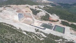 An aerial view of the heap-leach pad and Estrella zone at Alamos Gold's Mulatos mine in Mexico's Sonora state, about 300 km south of the U.S. border.