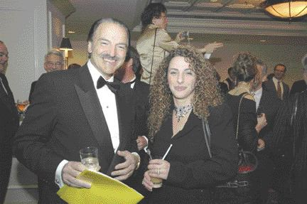 Newmont Mining president Pierre Lassonde with Georgette Zinaty, director of advancement and research in the Department of Civil Engineering at the University of Toronto, during the Canadian Mining Hall of Fame induction ceremony at the Fairmont Royal York Hotel. Lassonde was up to his usual quips as master of ceremonies.
