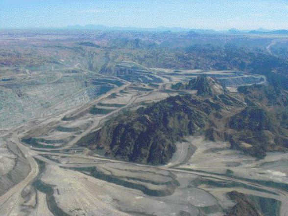 <p>A view of Rossing Uranium's open-pit uranium mine -- one of the world's largest. Rossing has been operating in Namibia since 1976.</p>