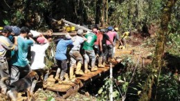 AURELIAN RESOURCESWorkers move a drill to another site on Aurelian Resources' Condor project in southeastern Ecuador. High-grade results continue to come from the Fruta del Norte discovery, part of Condor. One hole there returned 81.4 metres averaging 5.54 grams gold and 8 grams silver per tonne. Share are trading in the $30 range, up from $20 in July.