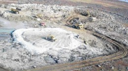 AGNICO-EAGLE MINESTrucks clear a spot for a fuel storage facility at Cumberland Resources' Meadowbank gold project in Nunavut. Toronto-based Agnico-Eagle Mines has made a friendly takeover offer for the company.