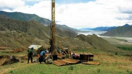 CONTINENTAL MINERALSDrilling on Continental Minerals' Xietongmen copper-gold deposit in Tibet. Continental has drilled roughly 55,000 metres on the project since April 2005.