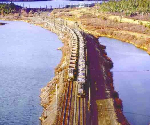 IRON ORE CO. OF CANADAA train carries iron ore from Iron Ore Co. of Canada's operations in Labrador City, Nfld. The company is spending $60 million to expand the facilities there in a booming iron market.