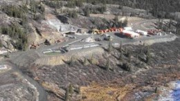 An aerial view of the upper portal at Yukon Zinc's Wolverine polymetallic deposit, in the southeastern region of the Yukon.