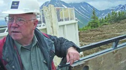 Columbia-Yukon Explorations' vice-president of exploration John Kowalchuk on a drill pad at the Storie molybdenum project, near Cassiar, B.C.