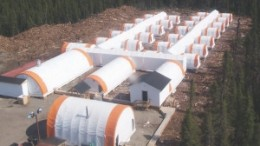The camp at Strateco Resources' Matoush uranium project in the Otish Mountains of Quebec. Strateco will be the first company to explore underground for uranium in the province.