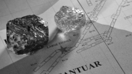 Two of the largest diamonds pulled from the Cantuar zone at Shore Gold's Star West project, in Saskatchewan, part of the Fort  la Corne joint-venture with Newmont Mining.