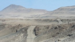 The desert along the south Peruvian coast, host to Chariot Resources' Marcona copper project.