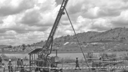 Drilling at the Chauffeur deposit at Moto Goldmines' Moto gold project, in the Democratic Republic of the Congo.