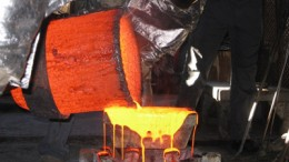Pouring gold at Medusa's Co-O mine in Mindanao