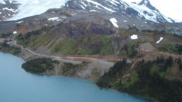 Making progress on road construction to the Galore Creek project in B.C. in 2008. Credit: NovaGold Resources