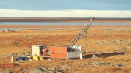 Drilling at Comaplex Minerals' Meliadine gold project near Rankin Inlet, Nunavut. The project is at the centre of Agnico-Eagle Mines' proposed acquisition of Comaplex.