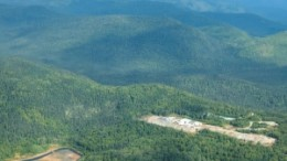 An aerial view of Fire River Gold's Nixon Fork gold project in the Tintina gold belt in central Alaska.
