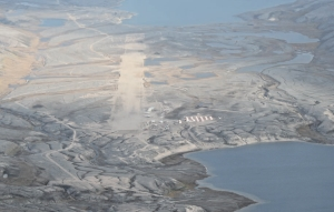 The camp and airstrip at Baffinland Iron Mines' Mary River iron ore project on Baffin Island, Nunavut.