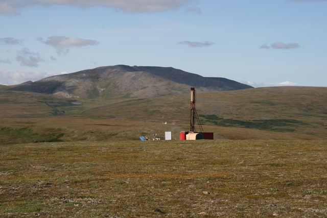Drilling at the Pebble copper-gold project in Alaska. Credit: Northern Dynasty Minerals