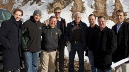 American Vanadium president and CEO Bill Radvak (far right) with staff, consultantsand analysts at the Gibellini project in Eureka Cty., Nev. Photo by Ian Bickis