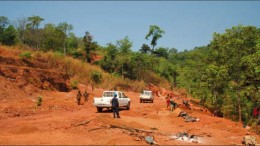 Exploring at Cluff Gold's Baomahun gold project in Sierra Leone's Bo district, 180 km east of the capital Freetown. Photo by Cluff Gold
