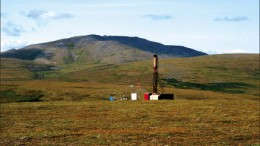 A drill rig at Northern Dynasty Minerals and Anglo American's Pebble copper-gold-molybdenum project in Alaska. Photo by Northern Dynasty Minerals